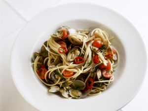 Spaghetti mit Muscheln Rezept