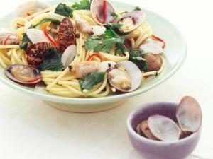 Spaghettini mit Venusmuscheln Rezept