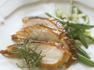 Spanferkelbraten mit grünen Bohnen Rezept