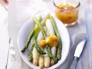 Spargel mit Mango-Salsa Rezept