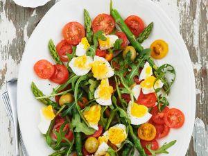 Spargel-Rucolasalat mit Tomaten Rezept