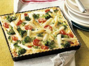 Spargelkuchen mit Brokkoli Rezept