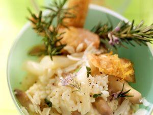 Spargelrisotto mit Lachsforelle Rezept