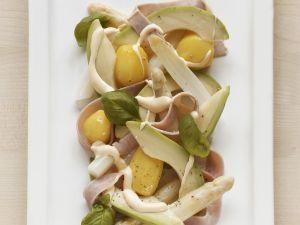 Spargelsalat mit Avocado, Schinken und Kartoffeln Rezept