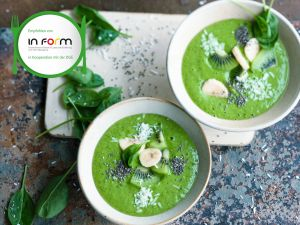 Spinat-Kiwi-Smoothie-Bowl Rezept