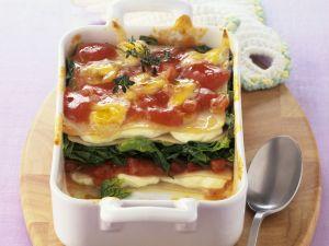 Spinat-Lasagne mit Quark Rezept