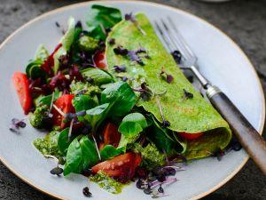 Spinat-Omelett mit Pesto Rezept