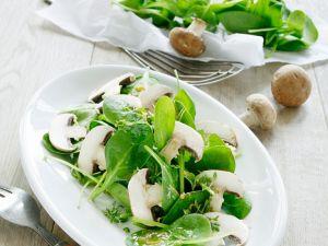 Spinat-Pilzsalat Rezept