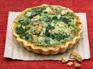 Spinat-Quiche mit Roquefort Rezept