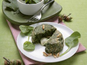 Spinatflan mit Mozzarella gefüllt Rezept