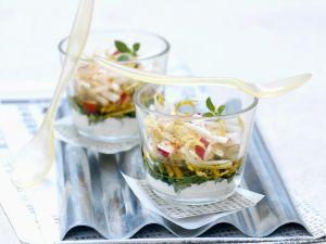 Sprossen-Gemüse-Salat mit Zaziki Rezept