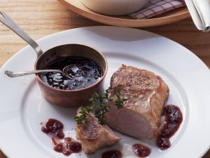 Steak vom Kalb mit Portweinsoße Rezept