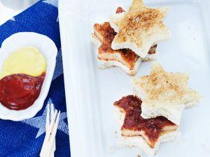 Sternförmige Sandwiches Rezept