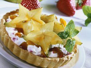 Sternfrucht-Creme-Törtchen Rezept