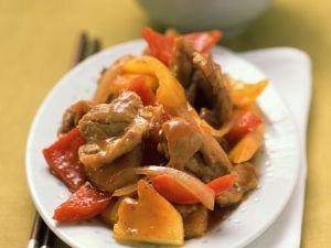 Süß-saures Schweinefleisch Rezept