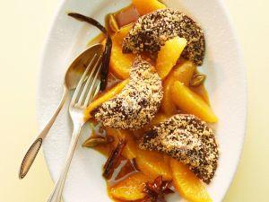 Süße Ravioli mit Nougat und Orangen Rezept