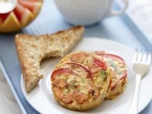 Süßkartoffel-Frittata mit Spinat Rezept