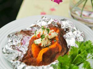 Süßkartoffel in Folie gegrillt Rezept