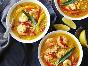 Suppe mit Garnelen Rezept