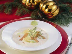 Suppe mit geräuchertem Fisch und Meerrettich Rezept