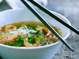 Suppe mit Shrimps und Glasnudeln# Rezept
