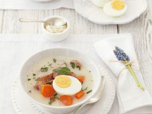 Suppe zu Ostern mit Ei Rezept