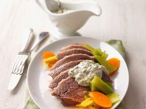 Suppenfleisch mit Kräutersauce Rezept