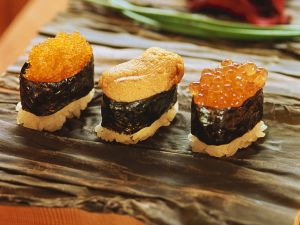 Sushi mit Fischrogen Rezept