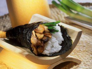 Sushi-Tüte mit Pilzen Rezept