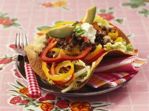 Tacos mit Rindfleisch und Paprika Rezept