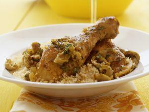 Tajine mit Hähnchen, Oliven und Zitrone Rezept