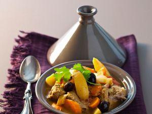 Tajine mit Lamm und Gemüse Rezept