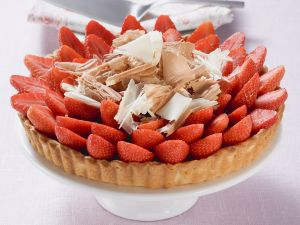Tarte mit frischen Erdbeeren Rezept
