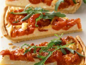 Tarte mit Tomate und Rucola Rezept