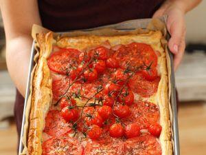 Tarte mit Tomaten Rezept
