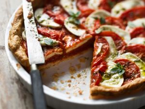 Tarte mit Tomaten und Mozzarella Rezept