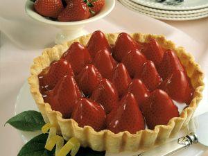 Tarte mit Vanillecreme und Erdbeeren Rezept
