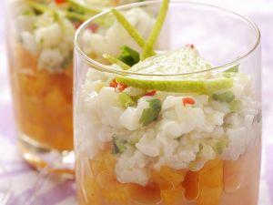 Tatar von der Jakobsmuschel mit Mango und Limette Rezept