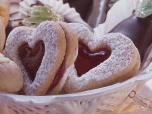 Teigherzen mit Marmeladenfüllung Rezept