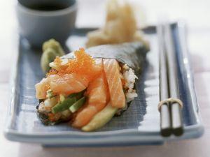 Temaki mit Lachs und Kaviar Rezept