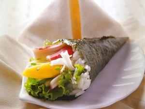 Temaki mit Mango und Surimi Rezept