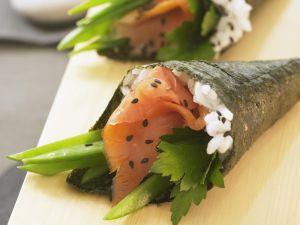 Temaki-Sushi mit Lachs Rezept