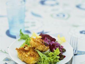 Tempeh mit Salat Rezept
