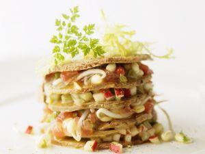 Tempeh-Törmchen mit Salat Rezept