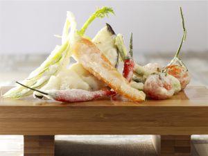 tempura mit b rlauch rezept eat smarter. Black Bedroom Furniture Sets. Home Design Ideas