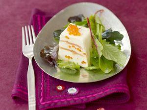 Terrine mit Lachs , Meerrettich und Forellenkaviar Rezept