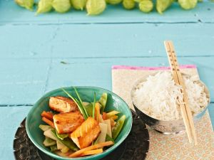 Thai-Curry mit Lachs Rezept