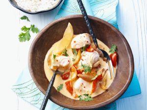 Thailändisches Fischcurry mit Gemüse Rezept