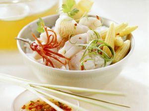 Thailändisches Fischfondue mit Reis Rezept