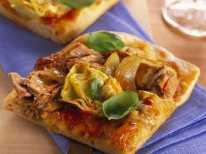 Thunfisch-Blechpizza Rezept